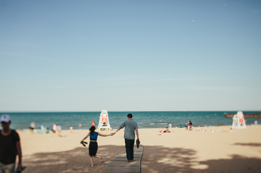 Evanston Beach Engagement Photography Chicago | Jess + Kevin